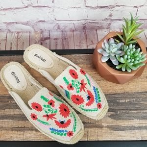 Soludos Ibiza Floral Embroidered Espadrille Mule